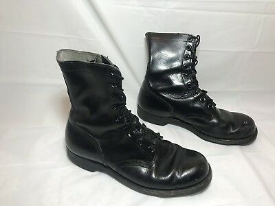 vtg VIETNAM era US military COMBAT field BOOTS 7-66 size 10 R Motorcycle
