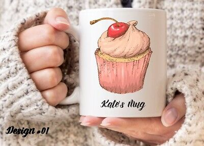 Cute Cup Cake - Coffee Mug - 6 to Pick from - Can be Personalised - Cake Mug