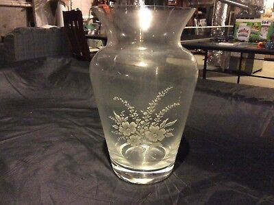 Avon 1980's Collector's Floral Bouquet, Leaded Crystal, Etched Vase New In Box