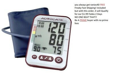 Advocate Arm Blood Pressure Monitor X-Large Cuff 26 Ounce--Freaky Fast Shipping!