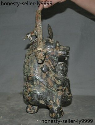 Old Dynasty Chinese Pure Bronze Ancient Water ware utensil Container Vessel POT