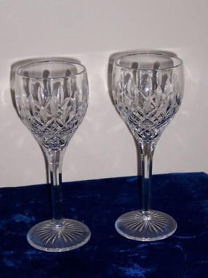 "Stuart Crystal Shaftesbury Wine Sherry Glasses Set Of Two 7"" Lot #10"