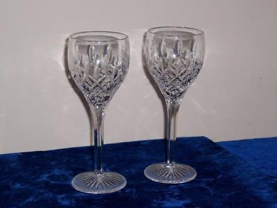 "Stuart Crystal Shaftesbury Wine Sherry Glasses Set Of Two 7"" Lot #11"