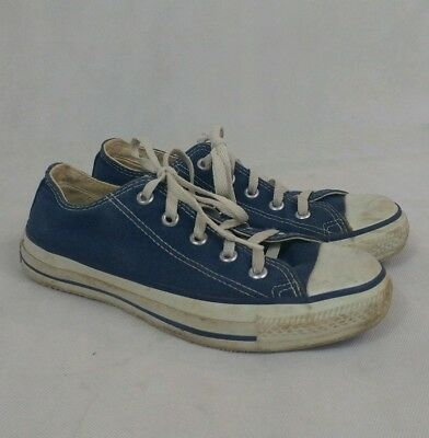 VTG Converse All Star Low Sneakers  Blue Made In USA Men 4 Women 6 Chuck Taylor