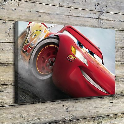 """12""""x20""""Lightning McQueen Posters HD Canvas Prints Home Room Decor Wall  picture"""