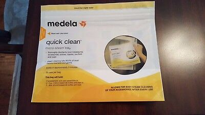 Medela Quick Clean Micro-Steam Sterilizing Bags (Lot of12) AMAZING & REUSEABLE!
