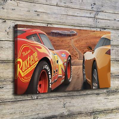 """12""""x22""""LIGHTNING MCQUEEN Posters HD Canvas Prints Home Room Decor Wall picture"""