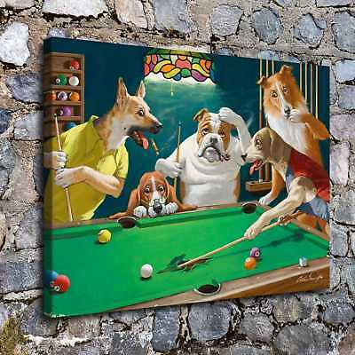 """12""""x16"""" Dog Playing Cards Posters HD Canvas Prints Home Room Decor Wall picture"""