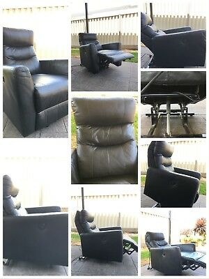 Recliner Electric Lift Disability Armchair Sofa Leather with side controller