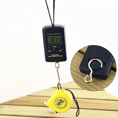 Electronic Scale LCD Digital Portable 40kg-10g Fishing Hanging Weight Useful