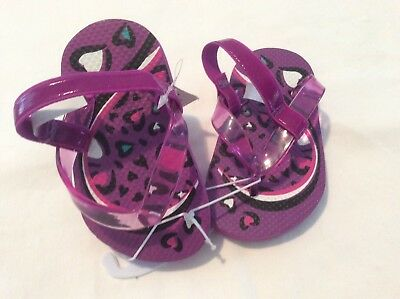 99c7cd97f7ad Children s Place Toddler Girls Purple Flip-Flops SIZE 4 5 Toddler NWT