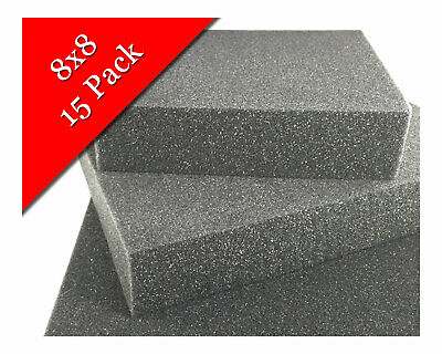"8"" x 8"" High quality dense charcoal foam felting pad - 15 Pack"