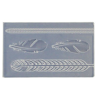 Silver Art Clay Jewelry Art Clay Original Mold Feather Motif