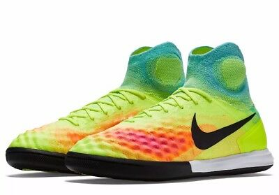 the latest ecf24 790a8 NWT Nike MagistaX Proximo II IC Indoor Soccer Shoes -Rainbow - 843957-703 -