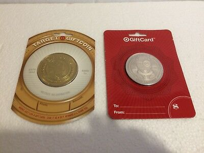"LOT of 2 Target ""SILVER & GOLD"" Coin Gift Cards ( no cash value) FREE SHIPPING"