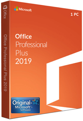 Microsoft Office 2019 Professional PLUS (Outlook Publisher, Access ) Vollversion