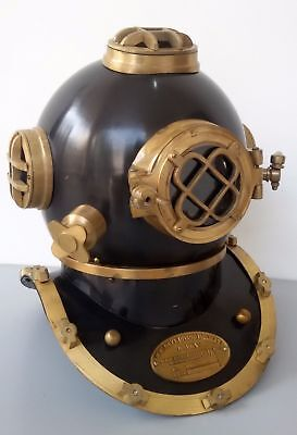 ANTIQUE REPRODUCTION U S NAVY MARK V DIVING DIVERS HELMET BRASS Christmas gift