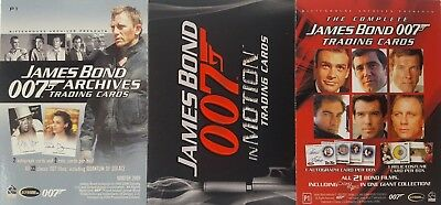 JAMES BOND OO7 PROMO CARDS X 3 Motion / archives / complete Rittenhouse