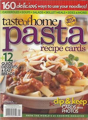 Taste Of Home Pasta Recipe Cards Cookbook 2009 Sausage Spaghetti Pie, Soups More