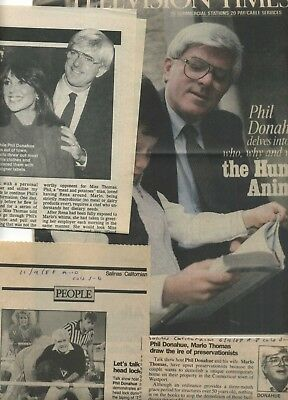 Phil Donahue rare collection 13 clippings 1986-1988; Archive of the Eighties