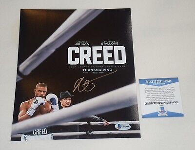FILM DIRECTOR RYAN COOGLER SIGNED AUTOGRAPHED CREED 8x10 PHOTO BAS COA F94904