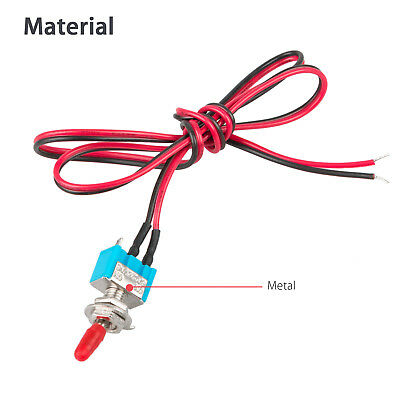 SPST Toggle Switch Wires On/Off Metal for Small Automotive Boat Car Multi-Use