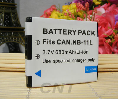 REPLACEMENT Canon Battery Pack NB-11LH NB-11L 3.7v, 680mAh 2.5Wh (Li-ion)