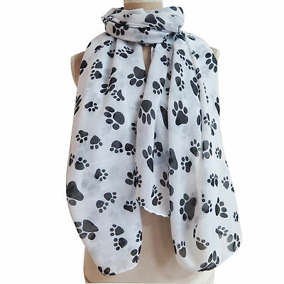 Dog Cat Paw Footprint Print Women Scarf Shawl Wrap Christmas Gift for Pet Lover