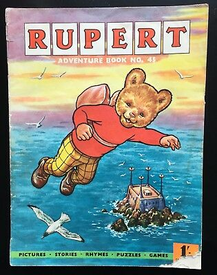 RUPERT Adventure Series No 45 Rupert Adventure Book Pub Nov 1961 G/VG