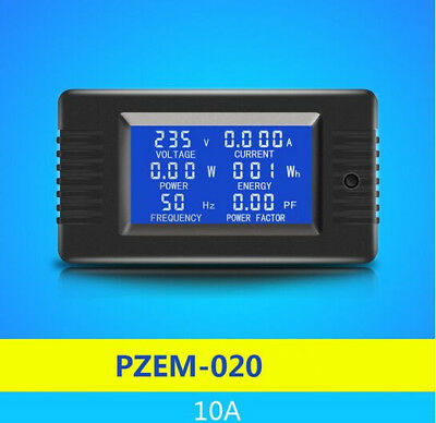 AC 6in1 AC 80 ~ 260V  10A Single Phase Digital Ammeter Voltage Current  Energy