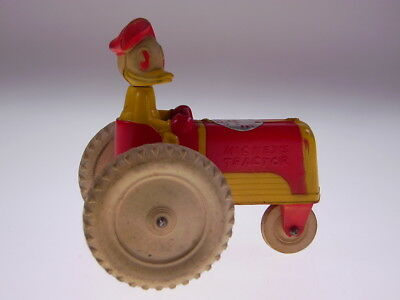 GSCOM *DONALD DUCK ON TRACTOR*  VICEROY TOYS CANADA,1940s, SEHR GUT/VERY GOOD!