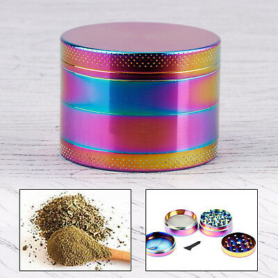 Herbe Colore Magic 55MM Epice Broyeur a main Moulin pollen 4 couches Grinder