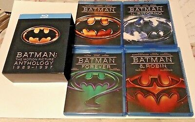 BATMAN the motion picture anthology 1989-1997 cofanetto blu ray