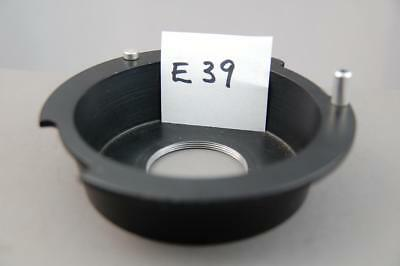 Devere enlarger lens plate SUNKEN with 39mm pitch thread, (Leica), excellent