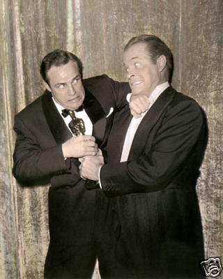 Marlon Brando Bob Hope 1954 Oscars Hollywood Actors 8X10 Hand Color Tinted Photo