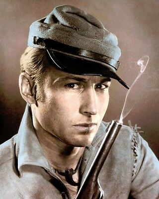 """Nick Adams The Rebel 1959 Hollywood Actor 8X10"""" Hand Color Tinted Photograph"""