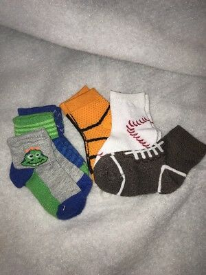 6 Pairs Cute Newborn Baby Toddler Kids Boys Girls Cotton Soft Ankle Socks 6-18 m