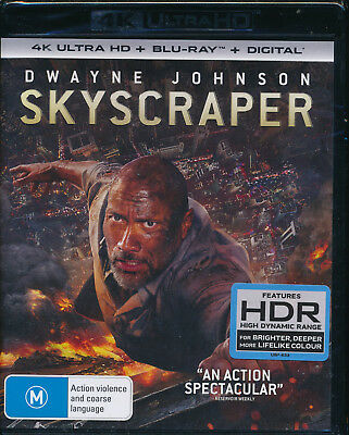 Skyscraper 4K Ultra HD Blu-ray Digital Download UHD Region B NEW