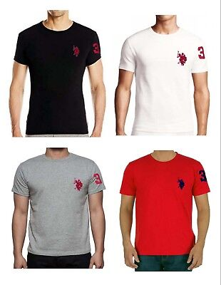 New Men Polo Assn Men's T-Shirt Crew Neck S/M/L/XL/XXL Good Quality With Tags