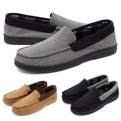 Men's Cotton Warm Loafers Casual Walking Driving Flat Moccasins Shoes Slip On