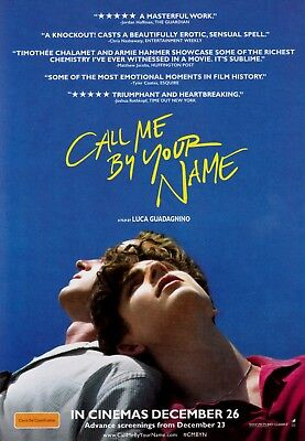 Call Me By Your Name (2017) A5 Poster - Timothée Chalamet, Armie Hammer