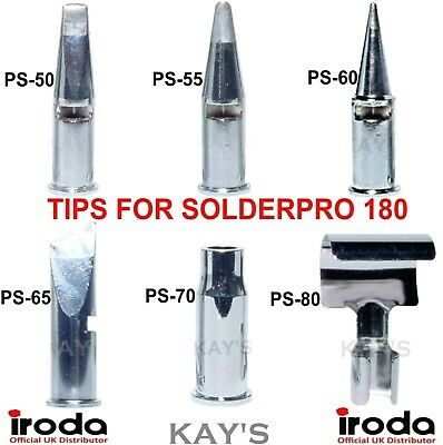 Tips & Attachments To Fit Pro Iroda Solderpro 180 Soldering Iron