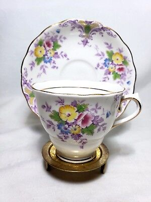 Vintage Colclough Bone China Tea Cup & Saucer 6652