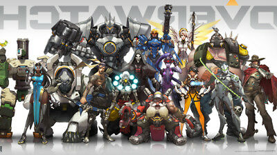 Overwatch Anniversary Character Lineup Poster Wallpaper Video Game