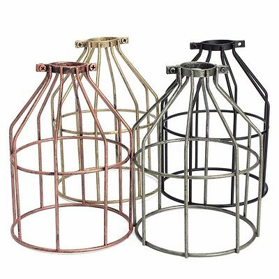 Industrial Retro Vintage Hanging Bar Metal Ceiling Light Pendant Lampshade Cage