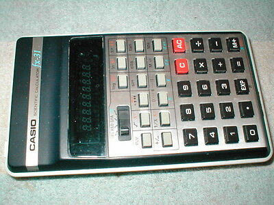 CASIO fx-31 SCIENTIFIC CALCULATOR WORKS PERFECTLY NICE CLEAN PIECE
