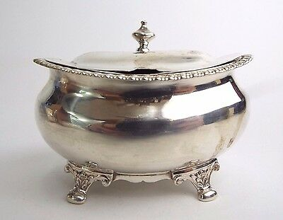 Mustard or Sauce Pot Georgian Adams Solid Sterling Silver Lias London 1819