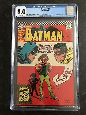 Batman #181-1st Silver Age Poison Ivy-CGC 9-White Pages