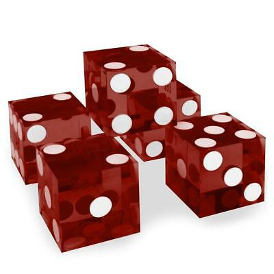 Set of 5 Grade AAA 19mm Casino Dice with Razor Edges and Matching Serial...