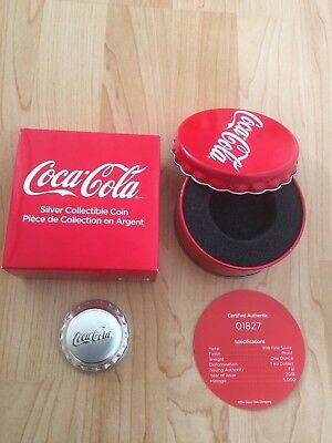 2018 FIJI COCA-COLA BOTTLE CAP – 1 oz $2 PURE SILVER .999 COIN Limited Mintage